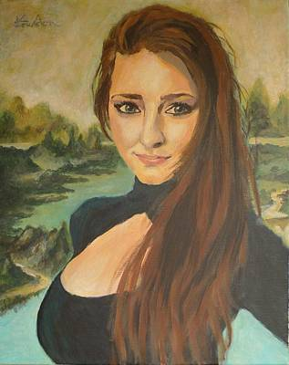 River Mouth Painting - Mona Lisa-21st Century by Veronica Coulston