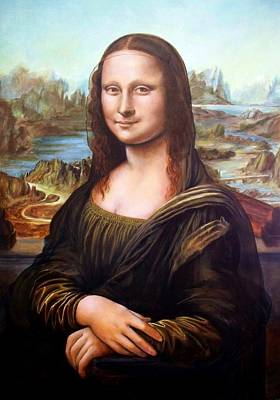Painting - Mona Lisa, After Leonardo by RB McGrath
