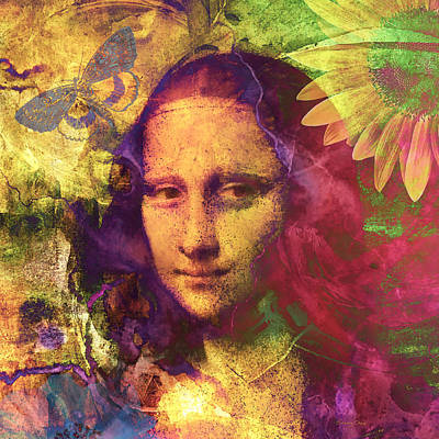 Da Vinci Mixed Media - Mona Lisa Art by Stacey Chiew
