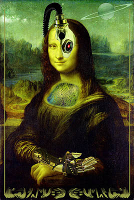 Digital Art - Mona Lisa Borg by Robert Kernodle