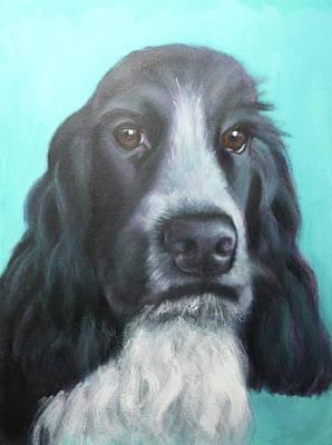 Wall Art - Painting - Mona Lisa Dog by Alison Stafford