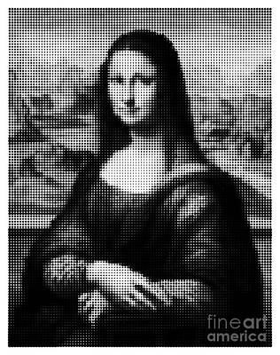 Digital Art - Mona Lisa Halftone by Igor Kislev