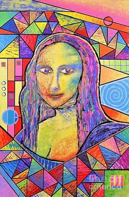 Painting - Mona Lisa - Jeremy Style by Jeremy Aiyadurai