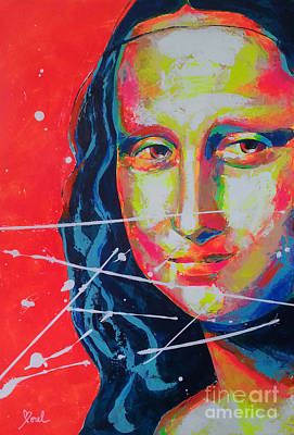 Painting - Mona Lisa - La Joconde by Marie-Armelle Borel