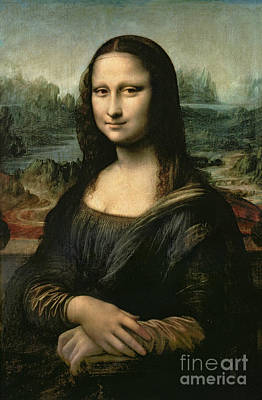 Female Portrait Painting - Mona Lisa by Leonardo da Vinci