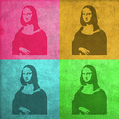 Mona Lisa Mixed Media - Mona Lisa Painting Vintage Pop Art by Design Turnpike
