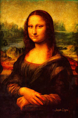 Italia Digital Art - Mona Lisa Revisited - Da by Leonardo Digenio
