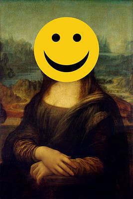 Digital Art - Mona Lisa Smiley by Attila Meszlenyi