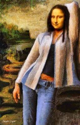 Sophisticated Digital Art - Mona Lisa Sophisticated - Da by Leonardo Digenio