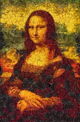 Mona Lisa Mixed Media - Mona Lisa - The Vegetable Matter by Sir Josef - Social Critic -  Maha Art