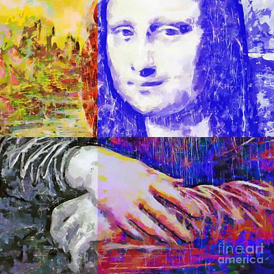 Vibrant Painting - Mona Lisa Vision by GabeZ Art