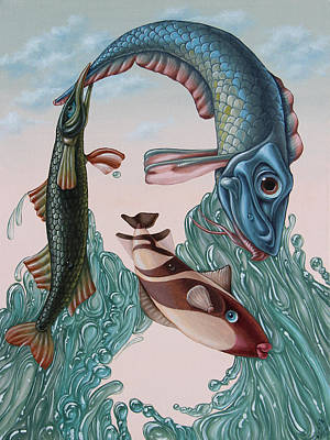 Mona Lisa. Water Art Print