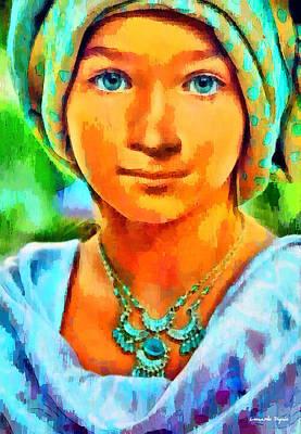 Aged Digital Art - Mona Lisa Young - Da by Leonardo Digenio