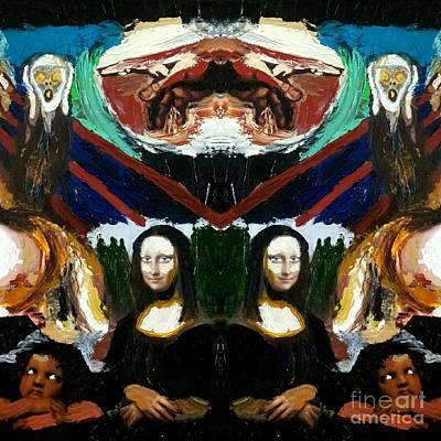 Religious Artist Digital Art - Mona Lisas Screams by Scott D Van Osdol