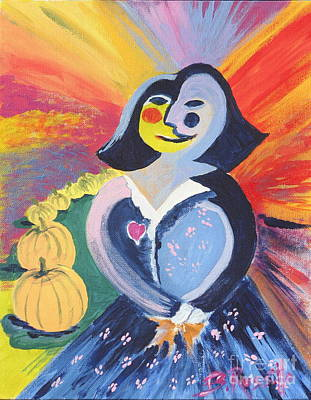 Picasso Style Painting - Mona Scarecrow by B Rossitto