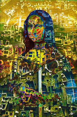 Louvre Mixed Media - Mona by Tony Rubino