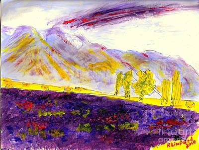 Painting - Mona Utah Lavender Field by Richard W Linford