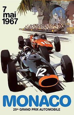 Digital Art - Monaco 1967 by Gary Grayson