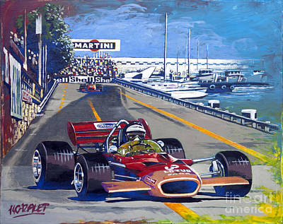 Monaco 1970 Art Print by Christian CAZALET