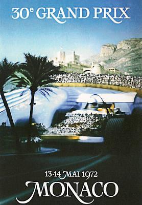 Monaco 1972 Grand Prix Art Print