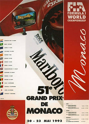 Marlboro Digital Art - Monaco F1 1993 by Georgia Fowler