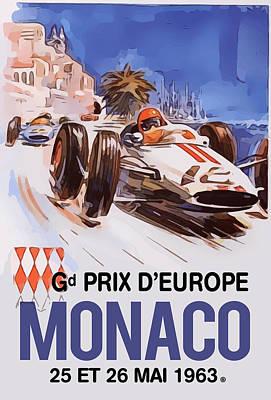Digital Art - Monaco Gran Prix by Gary Grayson