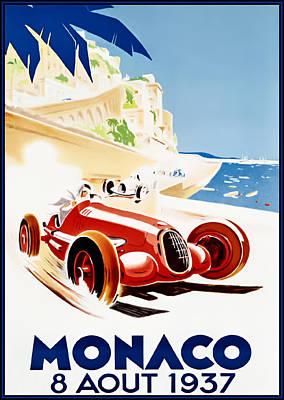 Monaco Grand Prix 1937 Art Print by Georgia Fowler