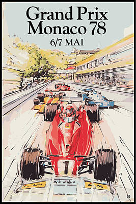 Digital Art - Monaco Grand Prix 78 by Gary Grayson