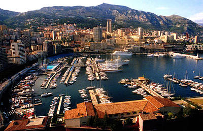 Monaco Harbor Art Print