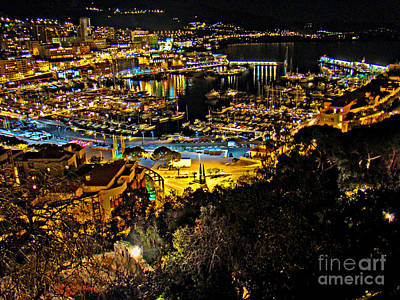 Photograph - Monaco Marina At Night II by Al Bourassa
