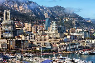 Photograph - Monaco Monte Carlo Cityscape by Artur Bogacki