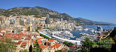 Photograph - Monaco Port Hercule Panorama by Yhun Suarez
