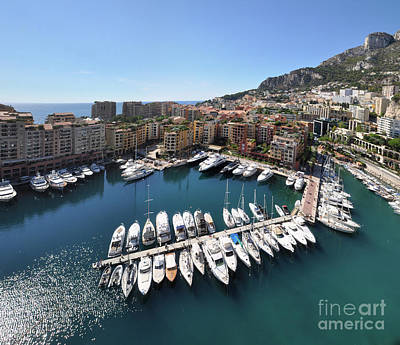 Photograph - Monaco Port De Fontvieille  by Yhun Suarez