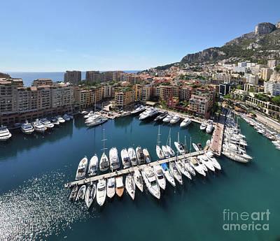 Print featuring the photograph Monaco Port De Fontvieille  by Yhun Suarez