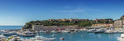Monaco Photograph - Monaco Port Hercule - Panoramic by Melanie Viola