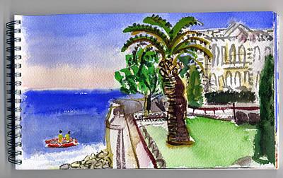 Architectur Painting - Monaco Sea Museum by Chevassus-agnes Jean-pierre