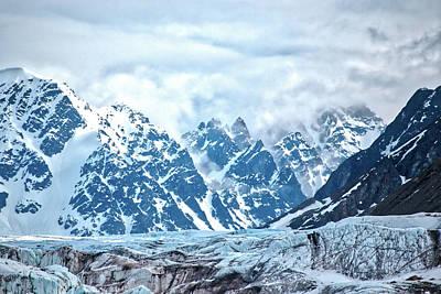 Photograph - Monacobreen Mountains And Glacier by Lauri Novak