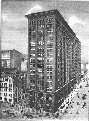 Streets Seen Painting - Monandock Building Chicago by Celestial Images
