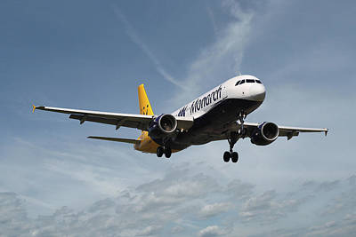 Monarch Airlines Airbus A320-214 Art Print