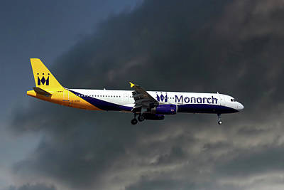 Monarch Airlines Airbus A321-231 Art Print