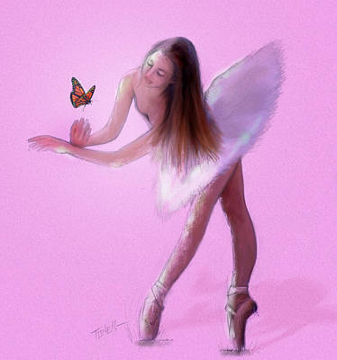 Dancer Mixed Media - Monarch Angel  by Mark Tonelli