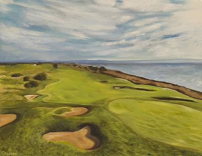 San Leandro Painting - Monarch Bay Golf Course by Christina Knapp