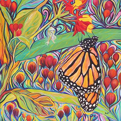 Monarch Butterfly Painting - Monarch Birthday Party by Eve  Wheeler