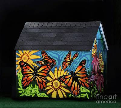 Painting - Monarch Butterflies Take Flight by Genevieve Esson