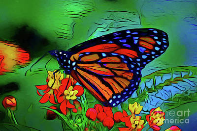 Photograph - Monarch Butterfly 16518 by Ray Shrewsberry