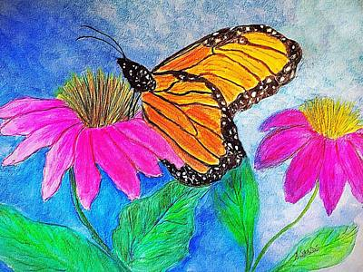 Painting - Monarch Butterfly Beauty by Anne Sands