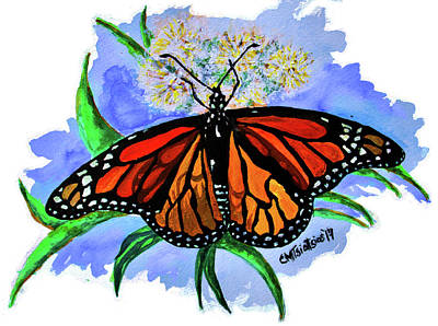 Painting - Monarch Butterfly by Carol Tsiatsios