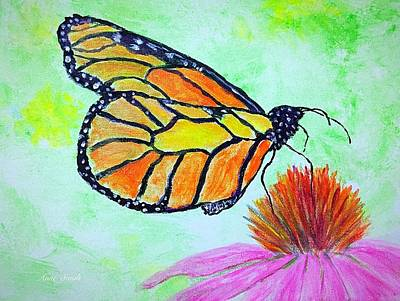 Painting - Monarch Butterfly Closeup by Anne Sands