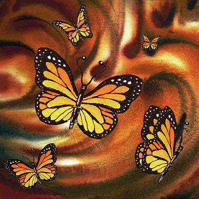 Painting - Monarch Butterfly Family by Irina Sztukowski