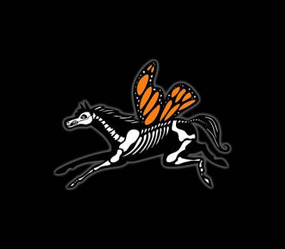 Digital Art - Monarch Butterfly Horse by Marti McGinnis